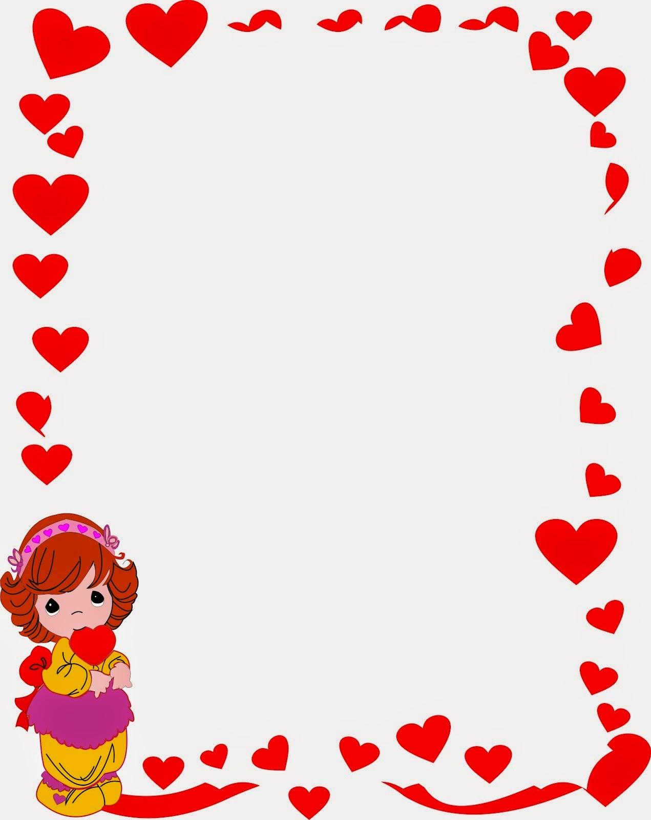 caratula para cuaderno marco de corazon