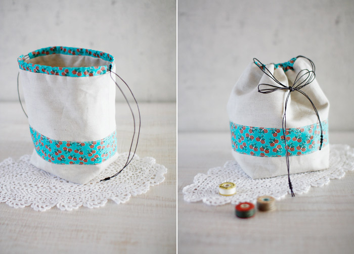 Small Drawstring Gift Bag ~ DIY Tutorial Ideas!