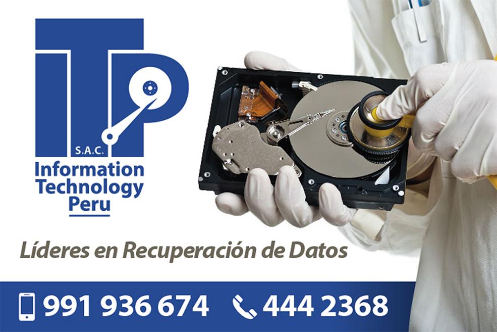 Recuperación de datos en Perú - ITP | Sala Limpia: EMERGENCIAS: (01) 4442368