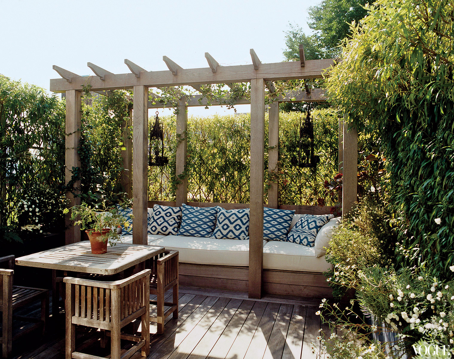 Townhouse Backyard Decks : This private rooftop decklandscaped by Miranda Brooks looks ideal