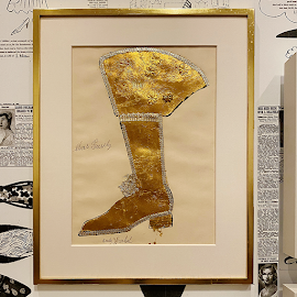 Andy Warhol's Elvis Presley boot illustration.