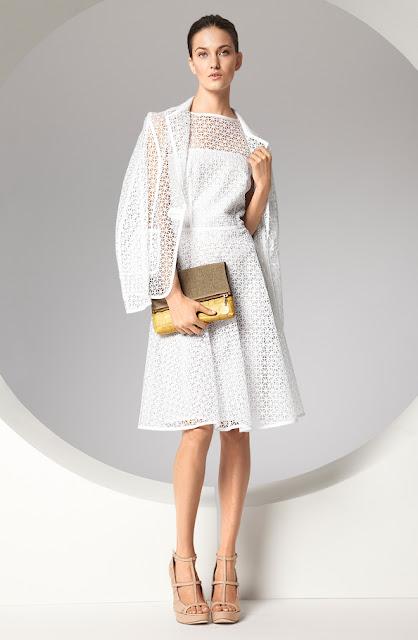 escada dantel detaylı beyaz elbise, dantel detaylı hırka