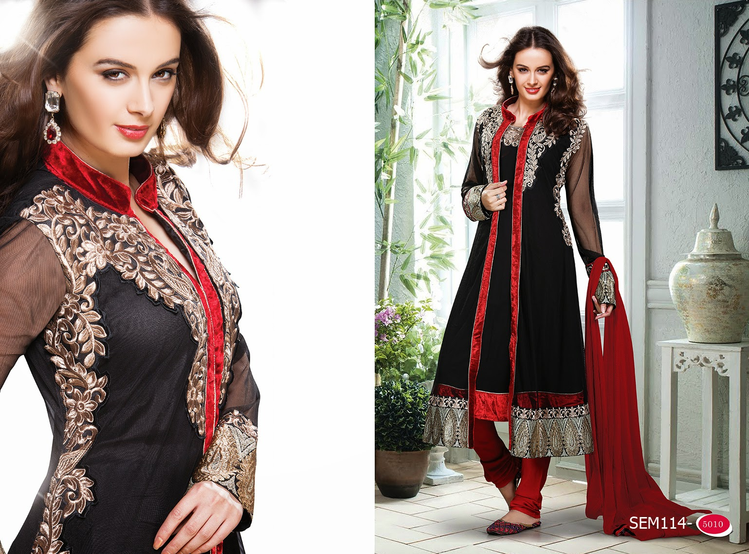 Anarkali suit with jacket