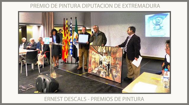 PREMIOS-PINTURA-CONCURSOS-DIPUTACION-EXTREMADURA-CONCURSO-ZURBARAN-HOGAR EXTREMEÑO-BADALONA-FOTOS-PINTOR-ERNEST DESCALS-