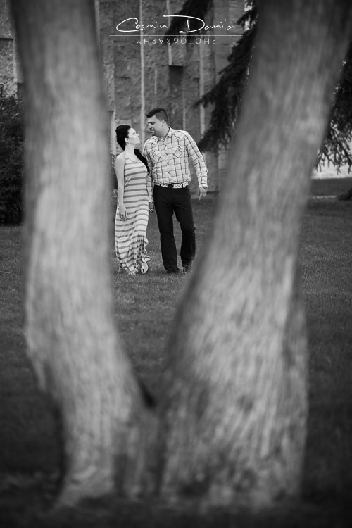 Engagement photography edmonton alberta prewedding pictures royal alberta museum couples portraits black white