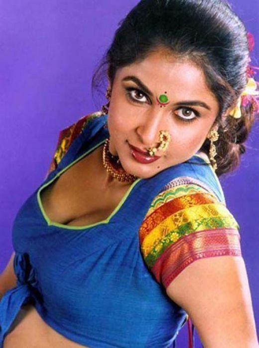 Sexy Ramya Krishna Spicy Hot Navelcleavage And Armpit Collections