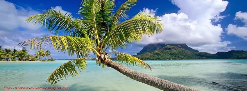 Une image de couverture facebook plage tropicales