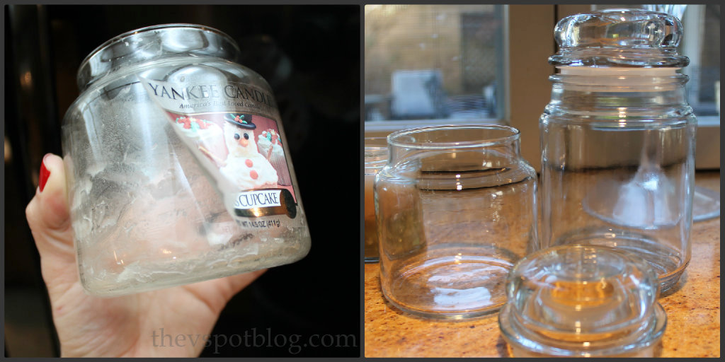 how to make your own diy jar candles using recycled jars and candle wax the v spot. Black Bedroom Furniture Sets. Home Design Ideas