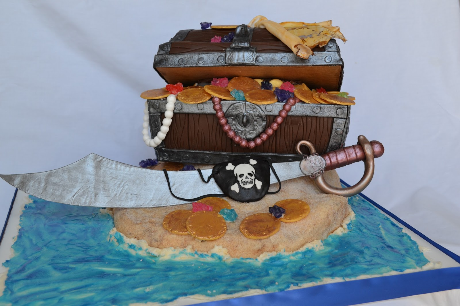 Delectable Cakes Pirate Treasure Chest Birthday Cake