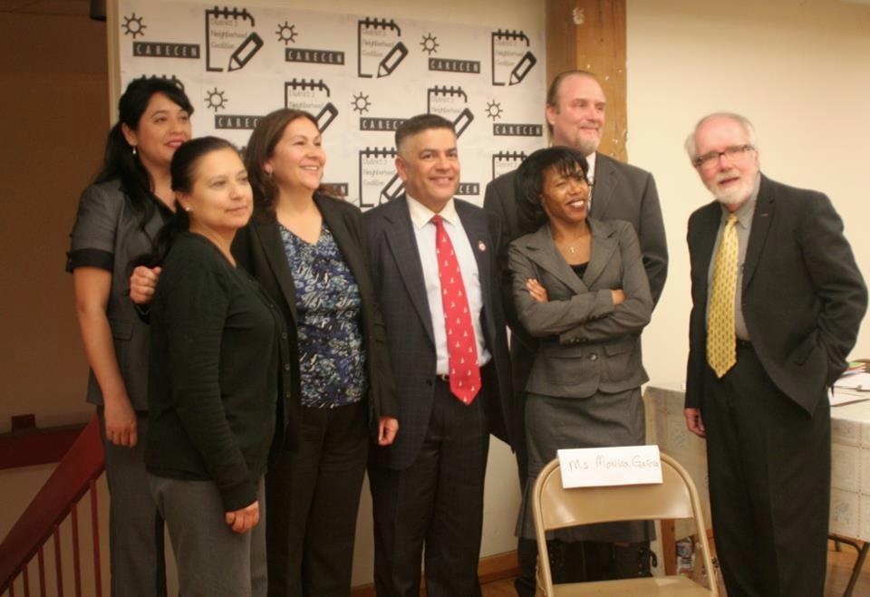 Left to right: Eleanor Garcia, Annamarie Montañez, Isabel Vazquez, Abelardo Diaz, Michelle