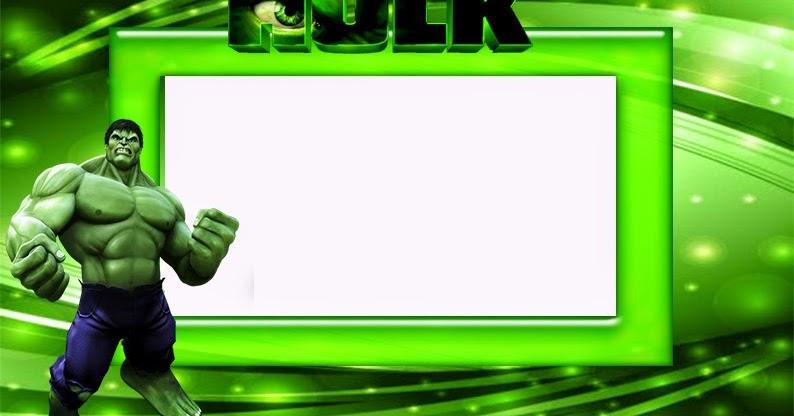 hulk free printable invitations  frames or cards