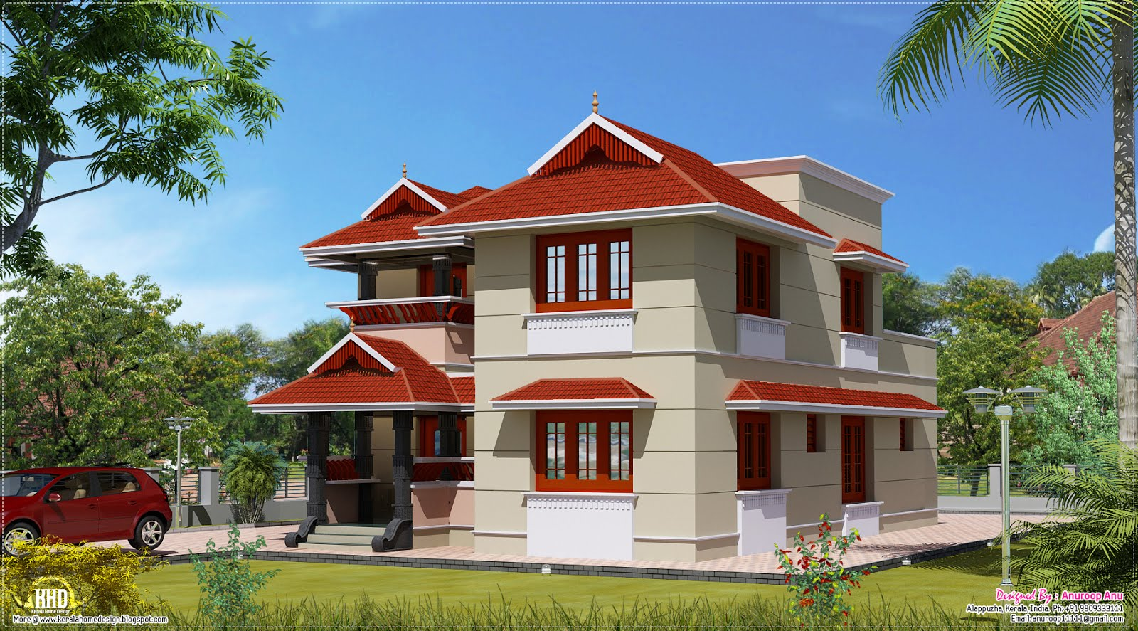 January 2013 kerala home design and floor plans for Villas designs photos