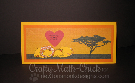 Mane Squeeze Lion Valentine Card by Crafty Math-Chick | Newton's Nook Designs | Wild about Zoo Stamp Set