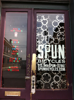 Spun Bicycle's front door