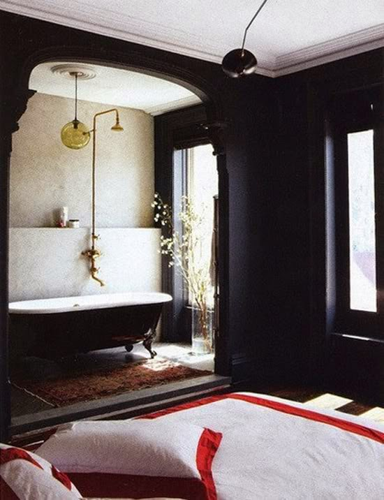 CAD INTERIORS design tips black paint bathroom design
