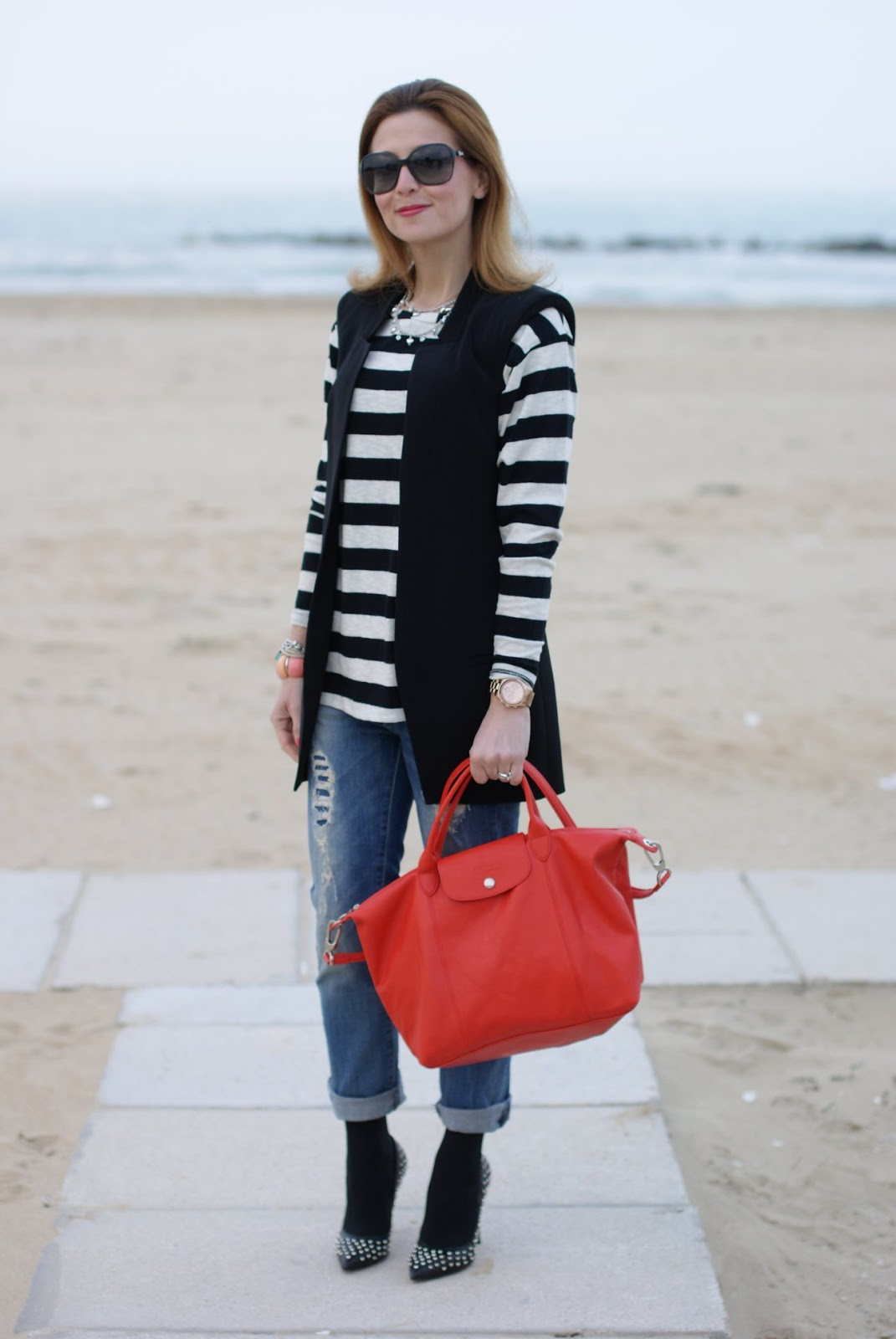 Longchamp bag boyfriend jeans and stripes fashion and - Pimkie boyfriend jeans ...