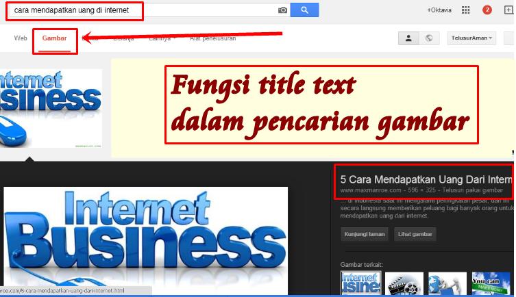 Memasang Title tag, Title text Pada Setiap Link dan Gambar