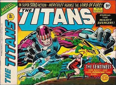 Marvel UK, the Titans #58, the Avengers
