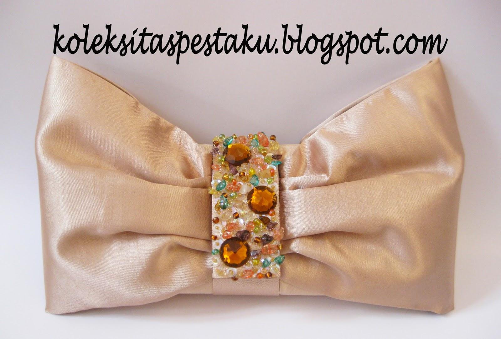 Tas Pesta Cream Clutch Bag Ready Stock Terbaru Cantik