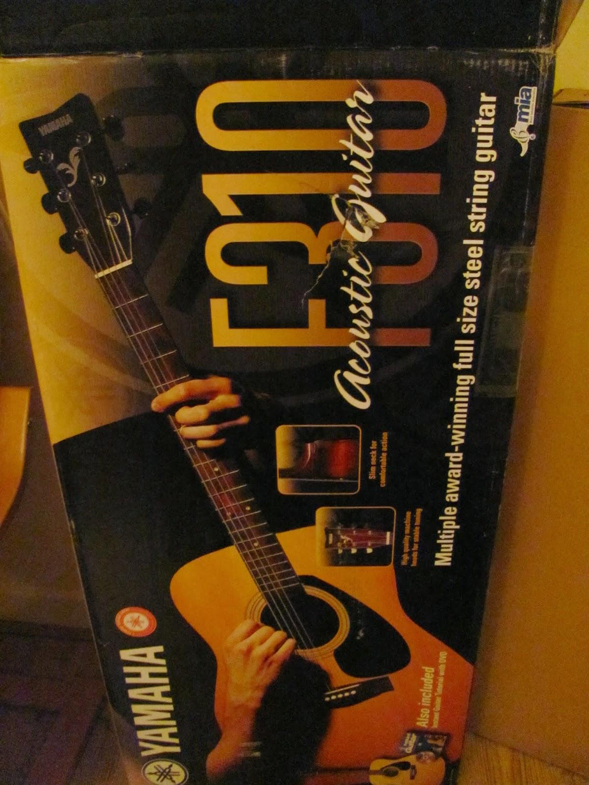 Yamaha F310 Acoustic Guitar Box Art