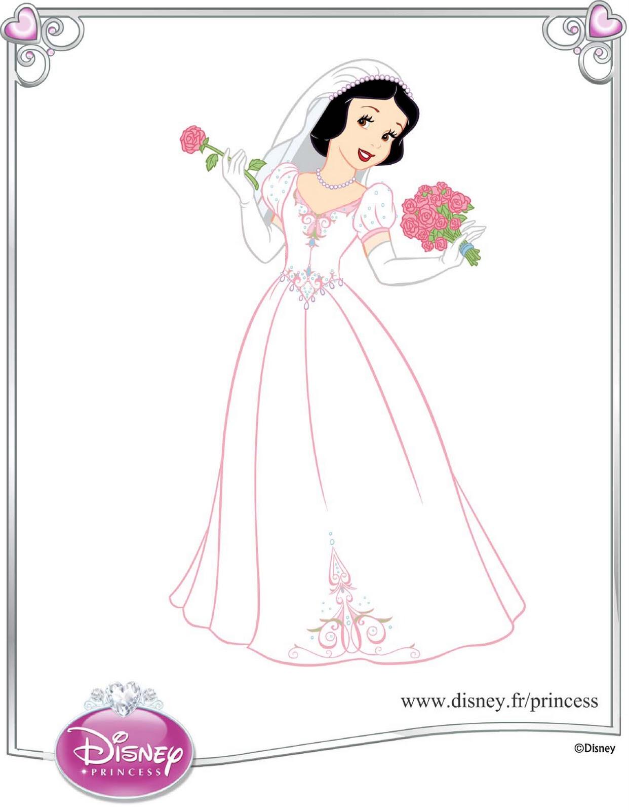 robe de mari e princesse disney blanche neige