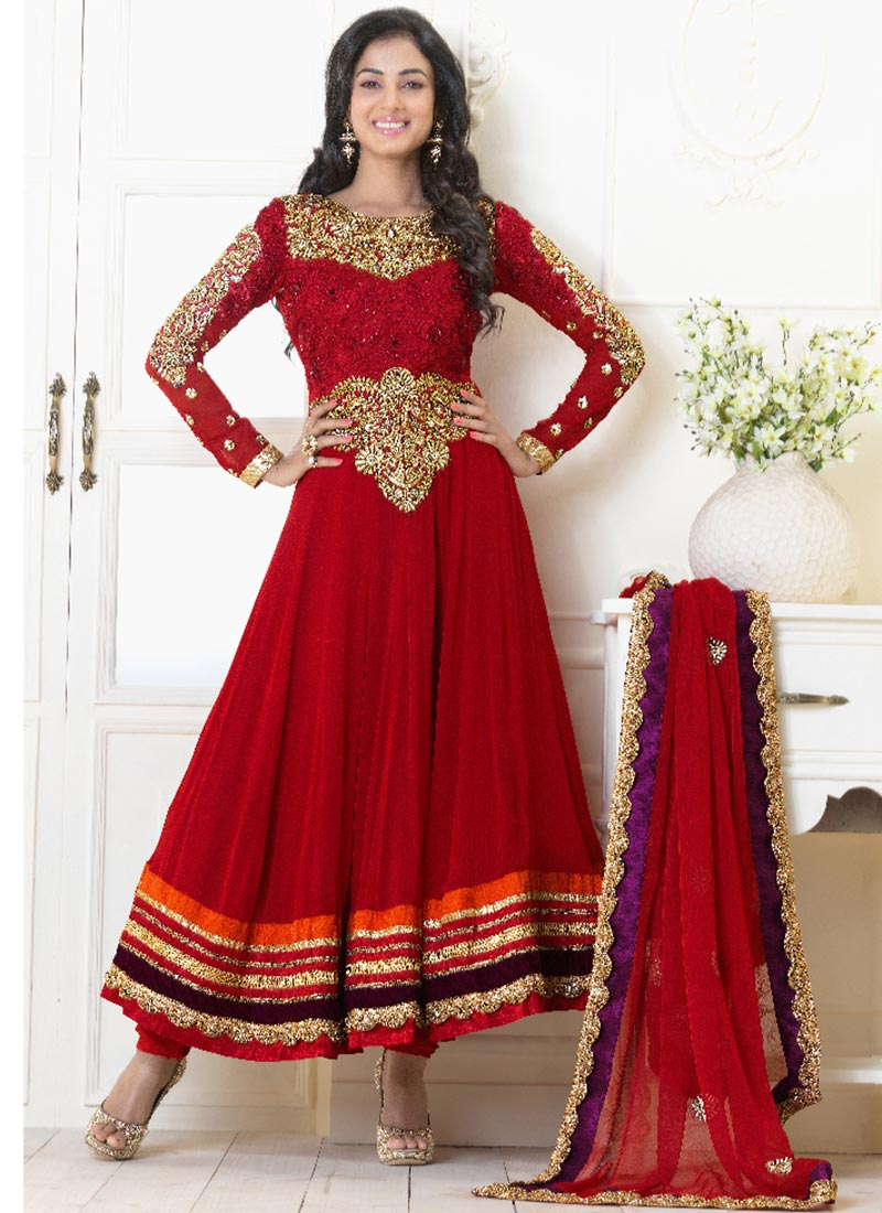 Karishma Kapoor In Designers Anarkali Suits 2013 Vega
