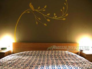 contoh mural pada ruang kamar tidur