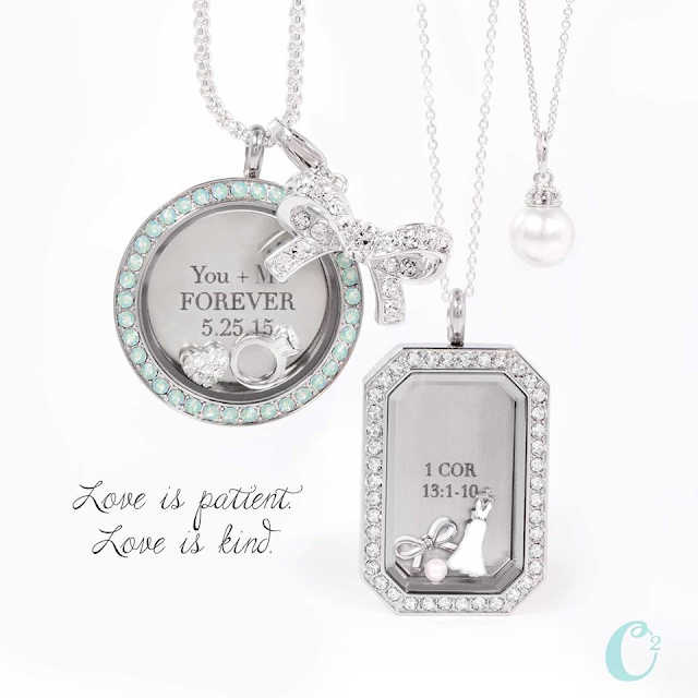 Say I Do to the Origami Owl Bridal Collection at StoriedCharms.com