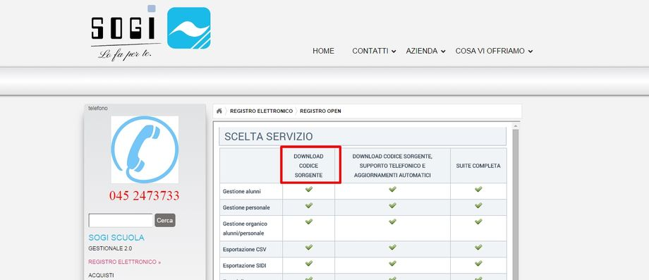 SOGI download codice sorgente registro elettronico