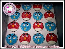 Angry Bird cupcakes