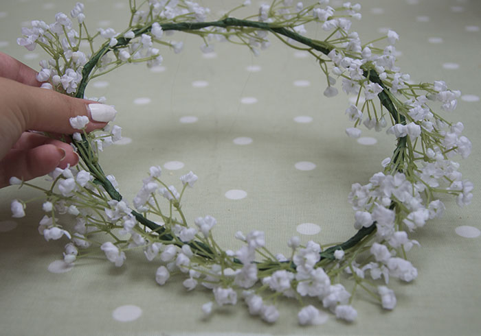 Dolly Bow Bow Floral Crown Headband Topshop Snowdrop Garland