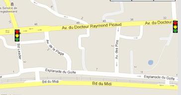 RADAR FEU ROUGE Avenue du Docteur Picaud