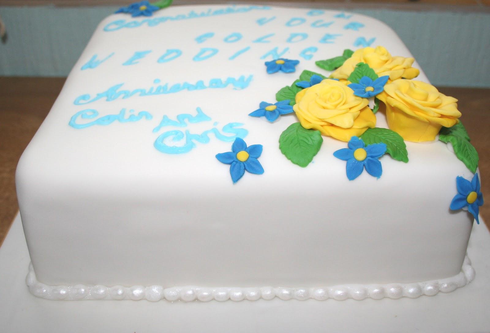 Chintzy Cakes: Golden Wedding Anniversary Cake