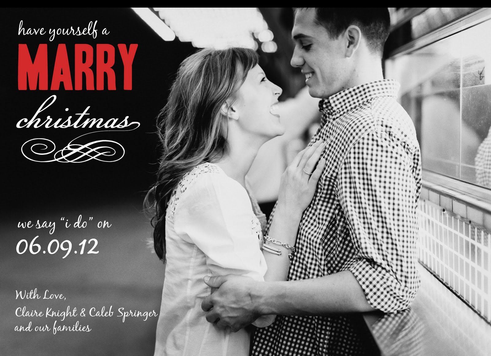 Completely Claire: Wedding Thursday: Save the Date & Christmas Card