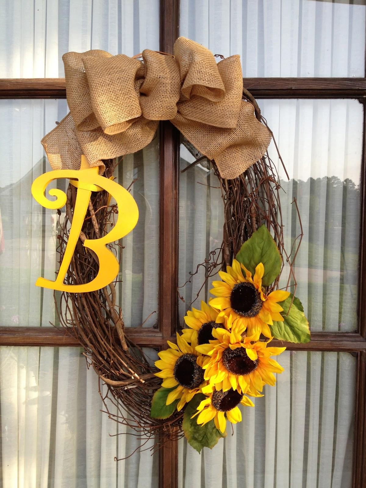 Sunflower And Burlap Wreath
