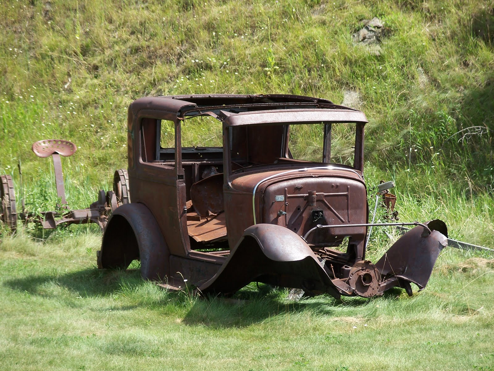 Abandoned Cars and Rusty Trucks - Mother Nature Sculpts Junk into ...