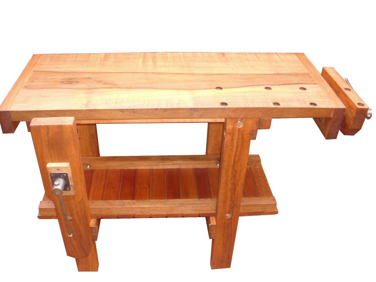 Banco de carpintero con doble morsa carpinterof for Mesa de carpintero