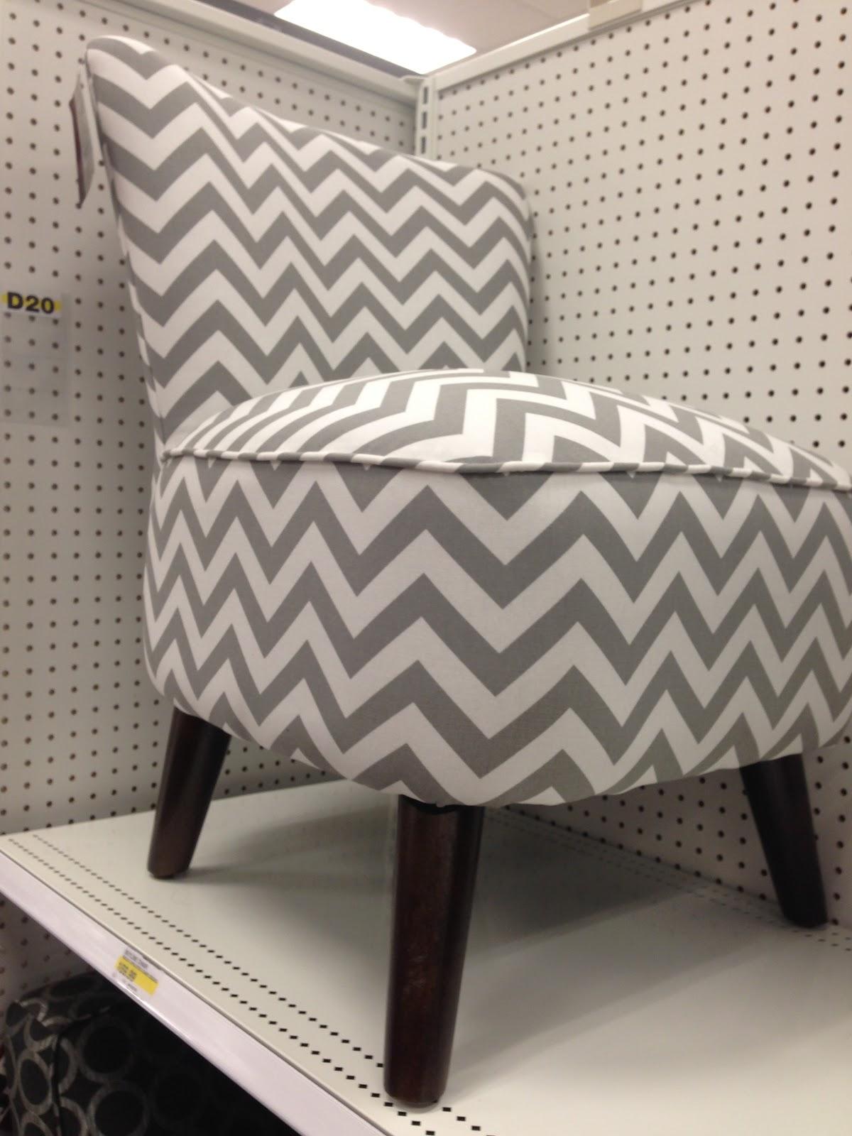 Grey And White Chevron Chair..... Need I Say More? 160 Bucks!