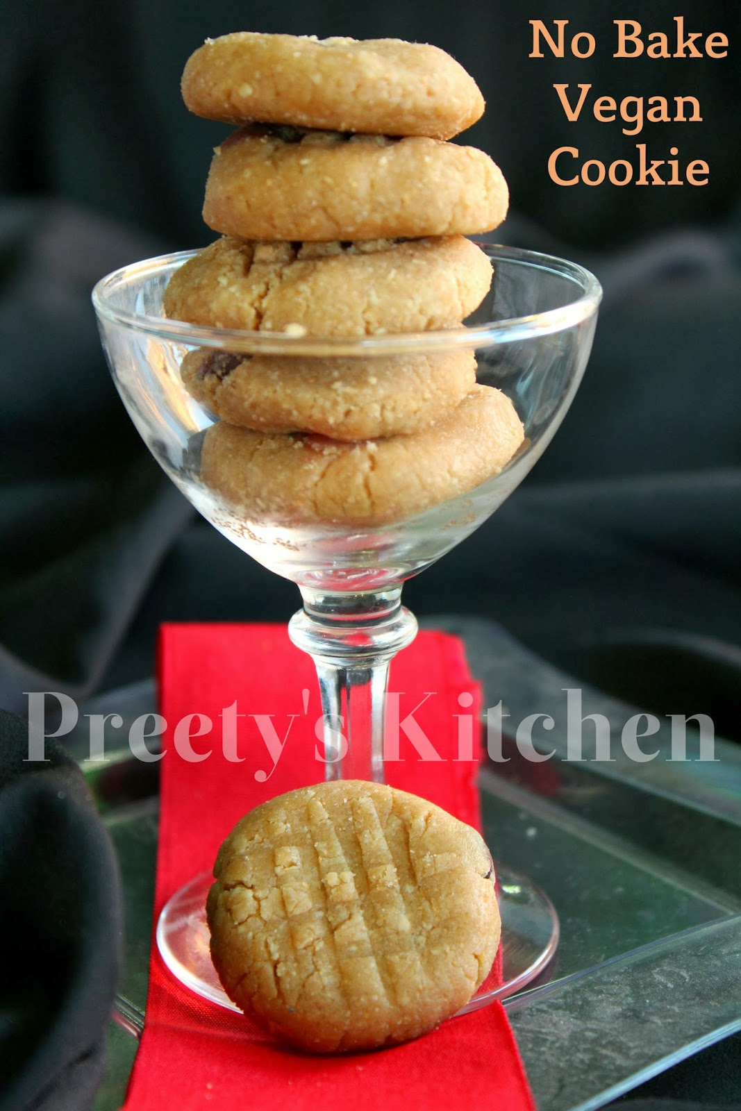 Preety's Kitchen: No Bake Vegan Cookie Recipe ( Stpe By Step Pictures)
