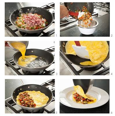 Como hacer un omelette relleno facil