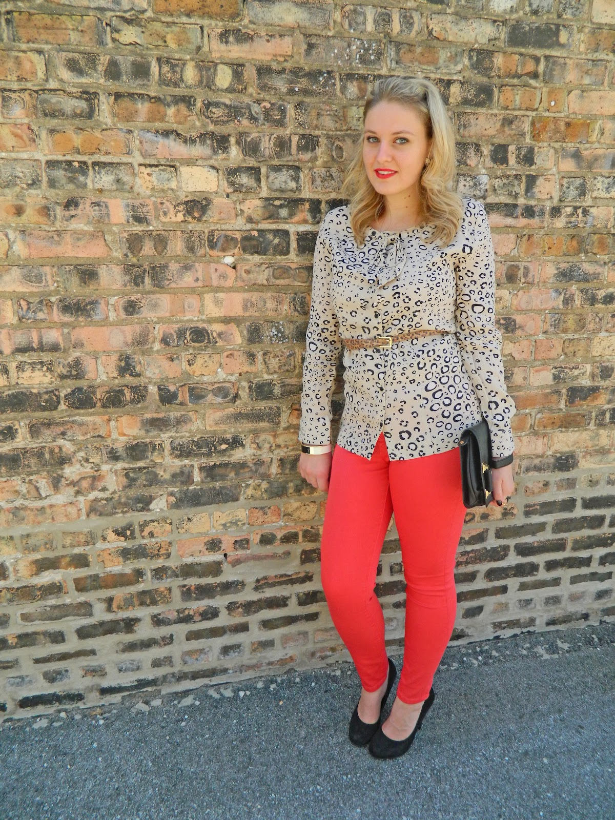 leopard and red pant