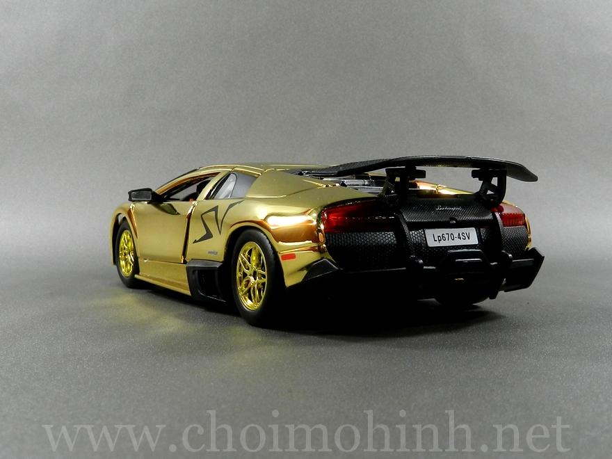 Gold Lamborghini Murcielago LP670-4 SV 1:24 Speedy back