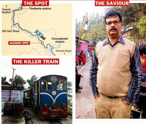 Darjeeling Toy train accident in Kurseong, one tourist dead