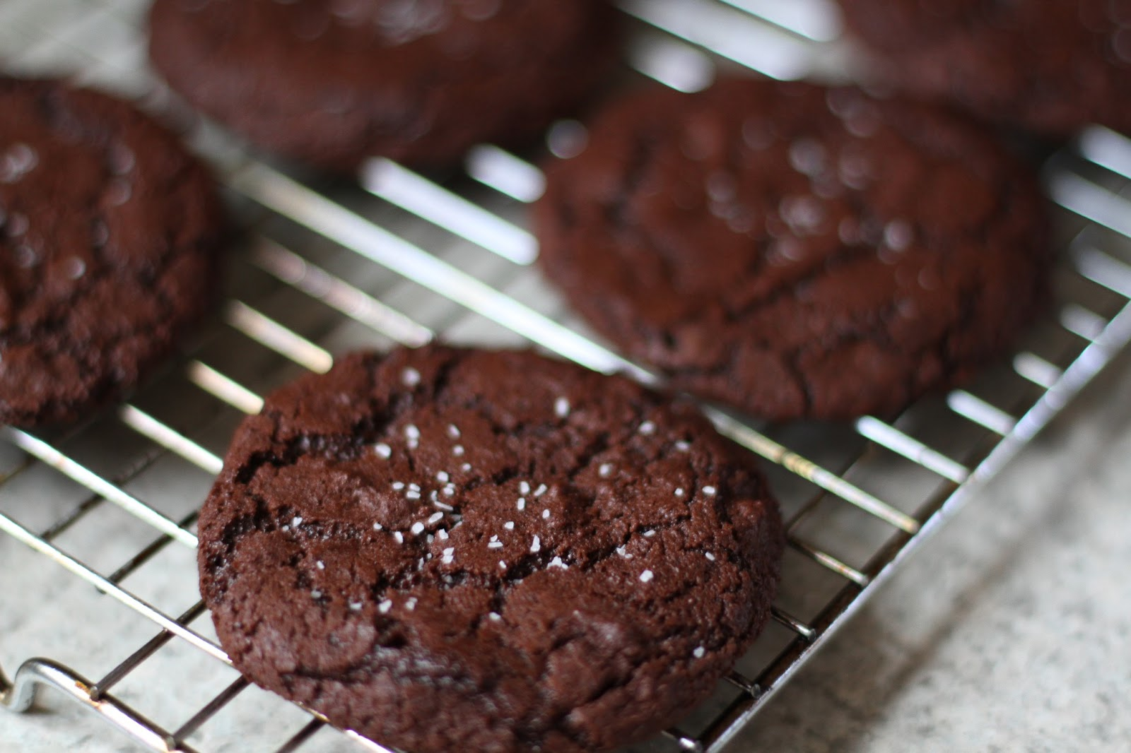 Sweet Cheeks in the Kitchen.: Dark Chocolate Cookies with Sea Salt