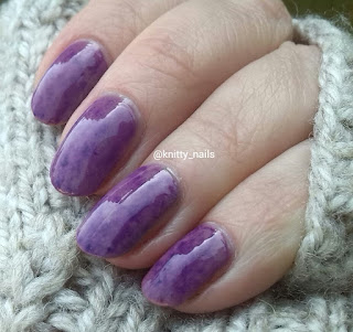 purple Sharpie marble