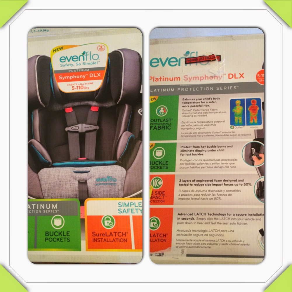 Our Rainbow Life: Evenflo Symphony DLX all-in-one car seat review