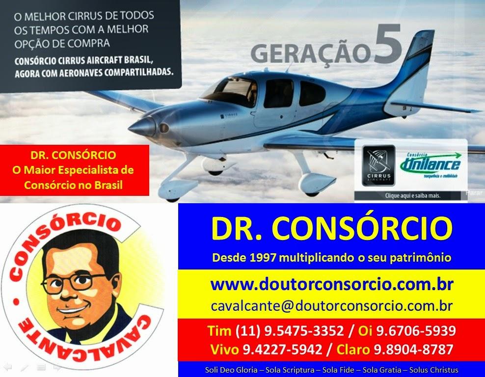 Avião e Jato é com o Dr. Consórcio.