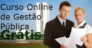 Curso de Gestão Pública Online, um curso super descontraído onde você ira aprender os principais fatores da gestão publica e gestão privada.