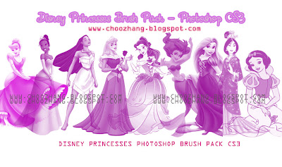 brushes princesas disney