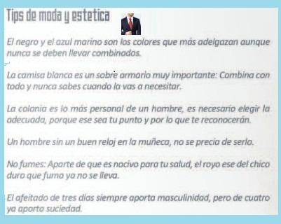 HOMBRES MODA Y ESTETICA TIPS
